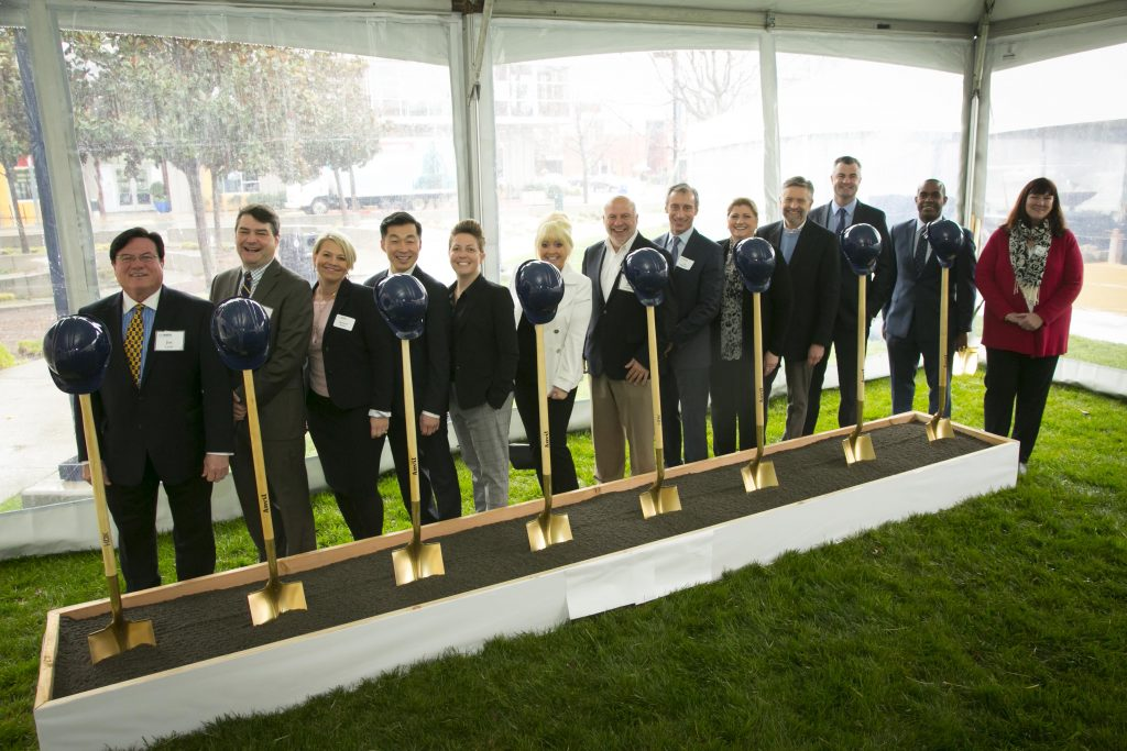 Groundbreaking at the green